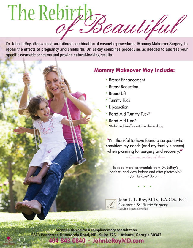 mommy makeover ad in atlanta parent magazine