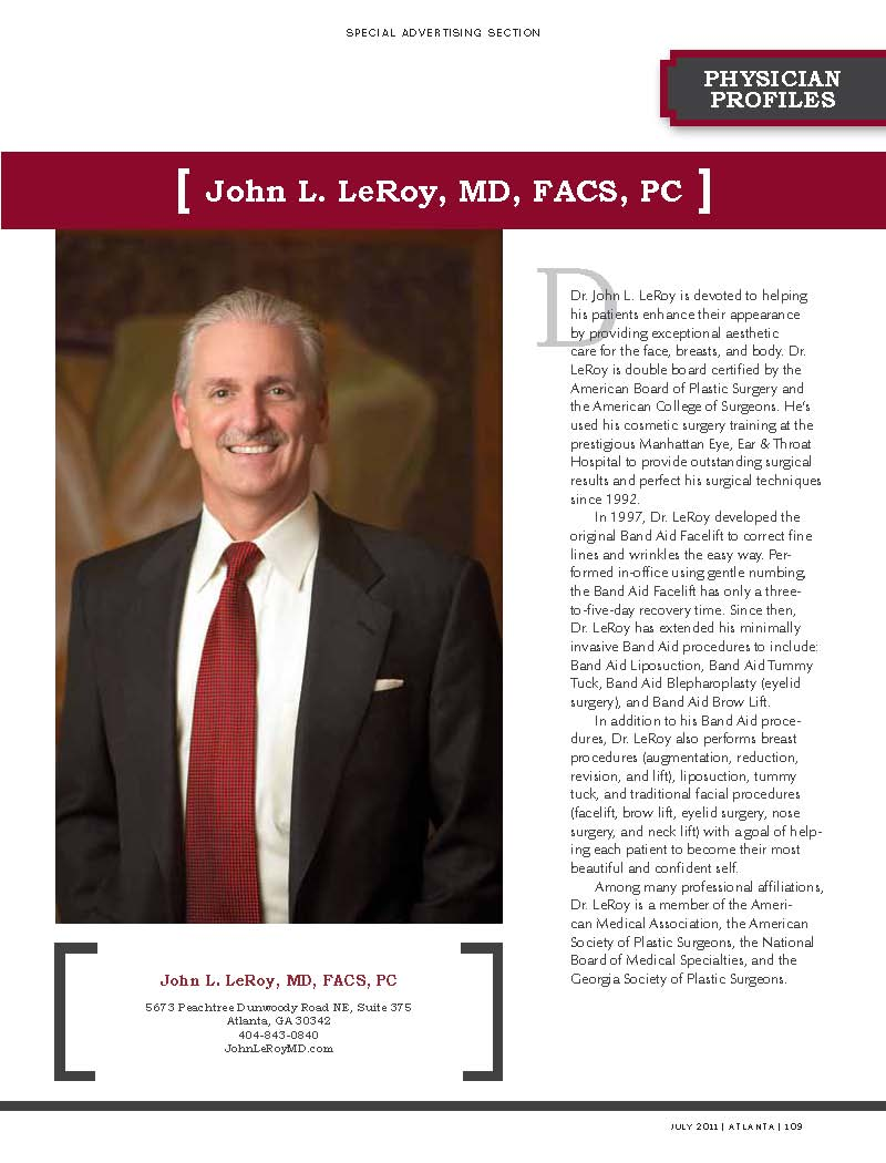Atlanta Plastic Surgeon Dr. John LeRoy