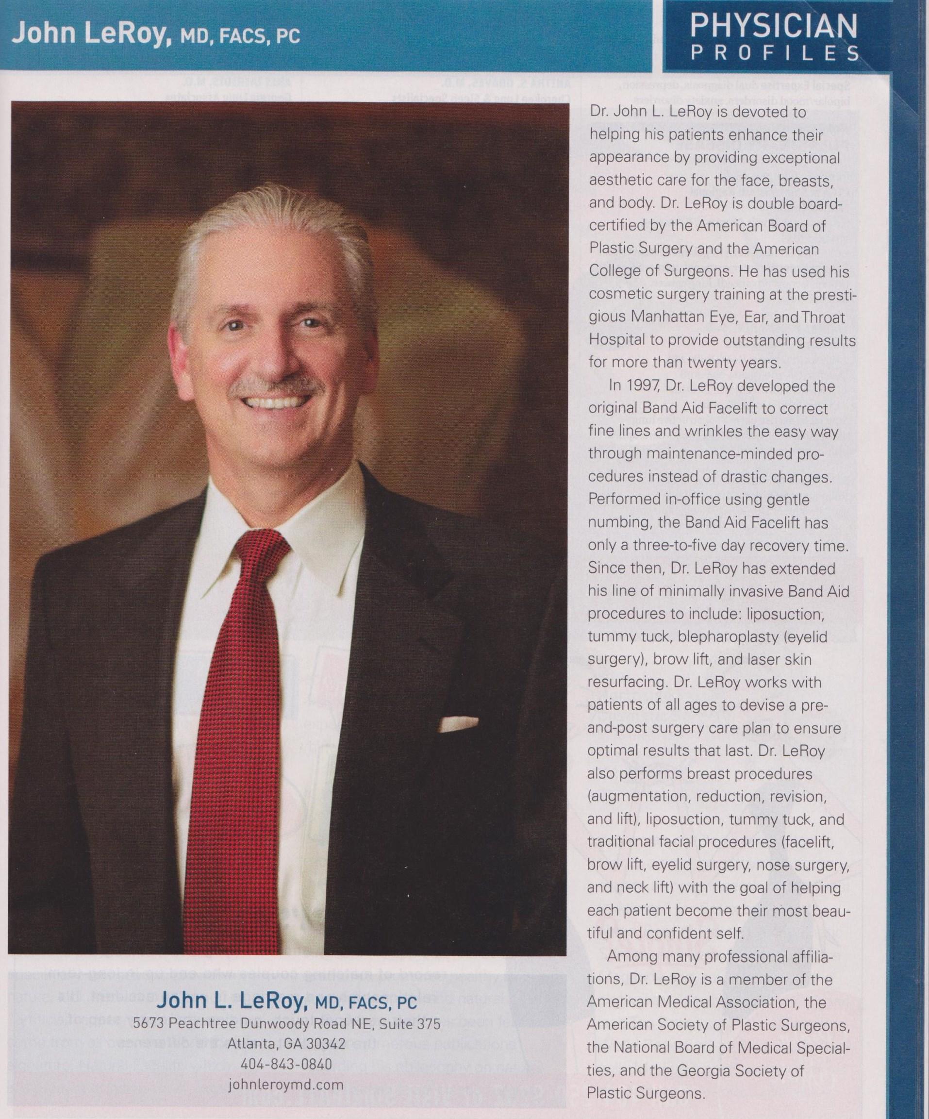 Dr John Leroy Physician Profile Featured In July Atlanta Magazine